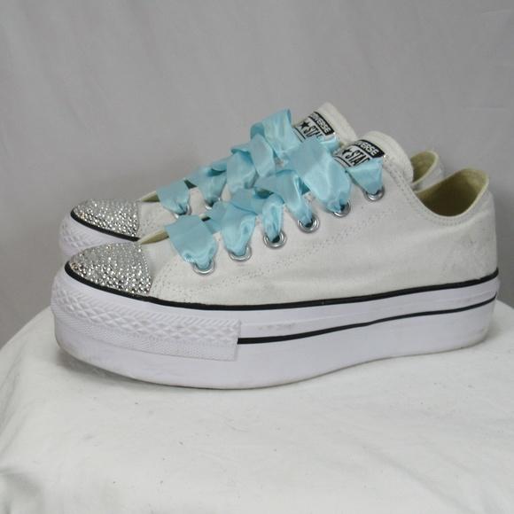 Converse Shoes | Chuck Taylor Platfrom Bling Wedding | Poshmark